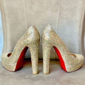 Christian Louboutin Shoes - 💯🆑👠 BIBI 140 GLITTER MULTICOLOR PLATFORM PUMP